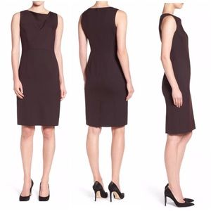 EMERSON ROSE Sleeveless Drape Neck Sheath Dress 8